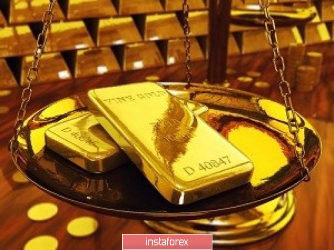 Gold pendulum: advantage in a falling direction